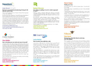 Business development programme experts flyer inner pages