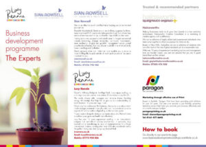 Business development programme experts flyer